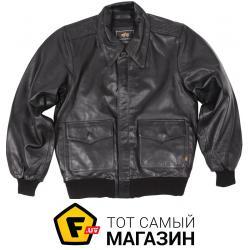 Куртка Alpha Industries A-2 Leather Jacket Black, M (MLA21019P1)