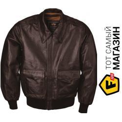 Куртка Alpha Industries A-2 Leather Jacket Brown, XL (MLA21019P1)