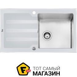 Кухонная Мойка Teka Lux 1B 1D 86 REV белое стекло/полированная (12129012)