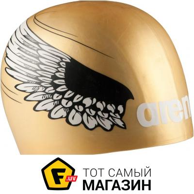 Шапочка для плавания Arena Poolish Moulded gold wings (1E774-30)