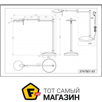 Настольная лампа Trio Kazan (574790132)