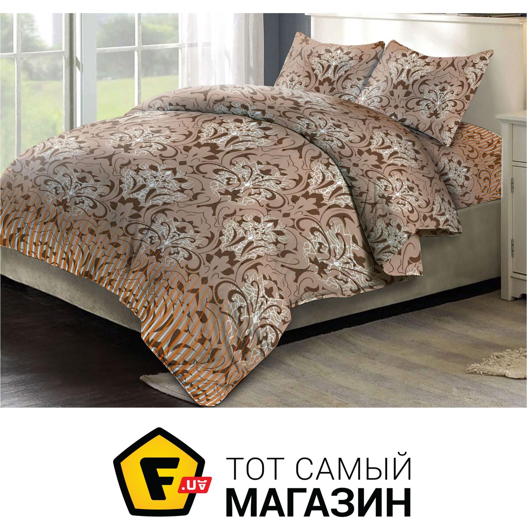 86f08e28549b Комплект постельного белья Евро 200x215 см хлопок коричневый ТЕП Элли, евро  (946)