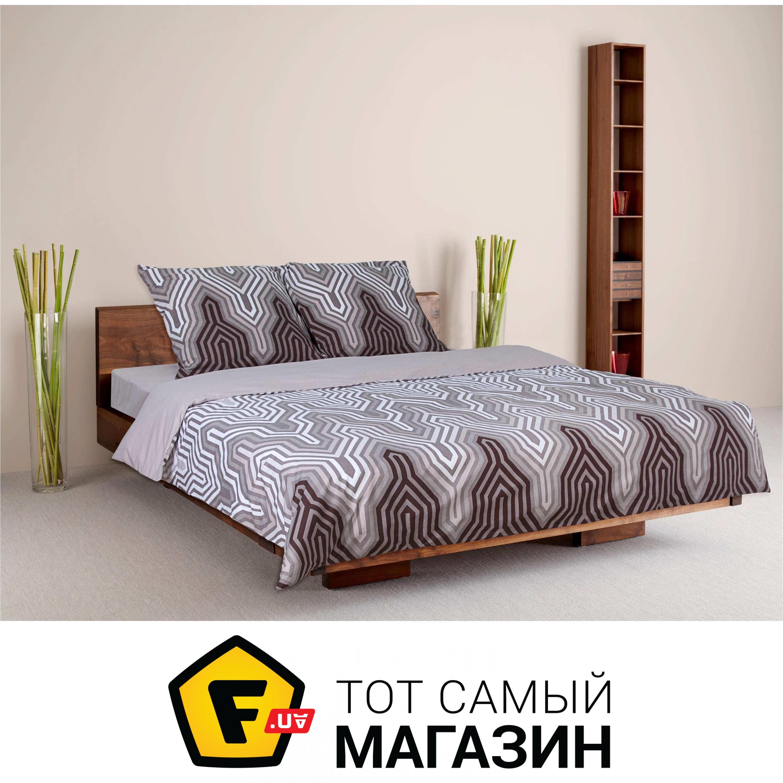 a7eca29e0318 Комплект постельного белья двуспальный 180x215 см хлопок серый ТЕП Шанталь,  двуспальный (968)