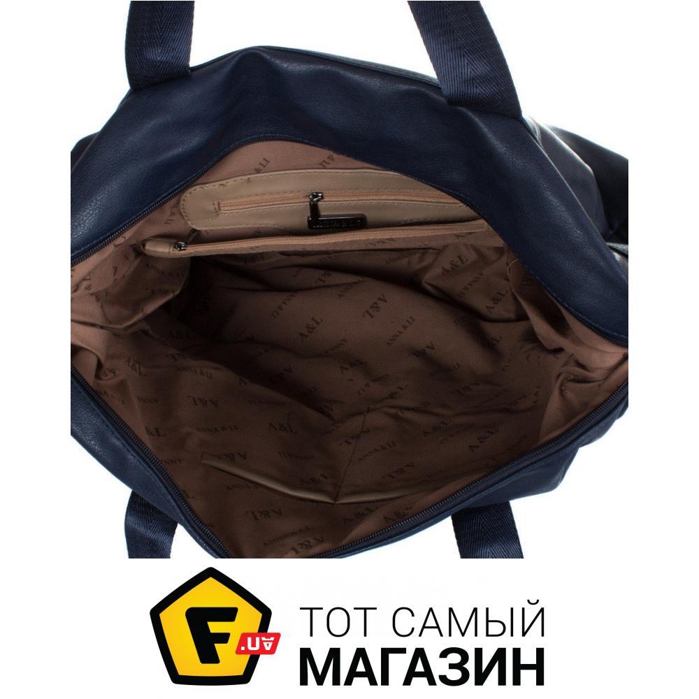 bcbb88dbf8df Дорожная сумка Anna&Li TU13615 navy Высота: 36 см, 4 из 5