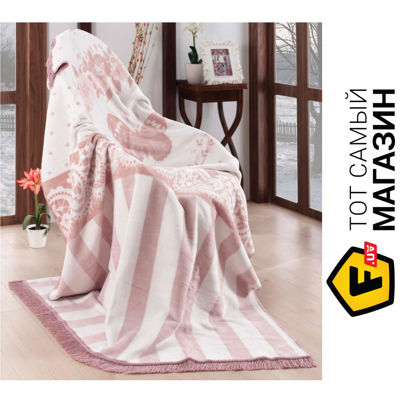 Плед двуспальное 220 x 200 см легкое розовый Arya Molly 200x220см ... f4b762bee485c