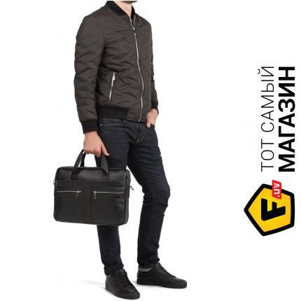 """8ae391d22a35 Сумка Bexhill — натуральная кожа — стиль мужской деловой оригинал черный  """"Bx1120A"""" Высота:"""