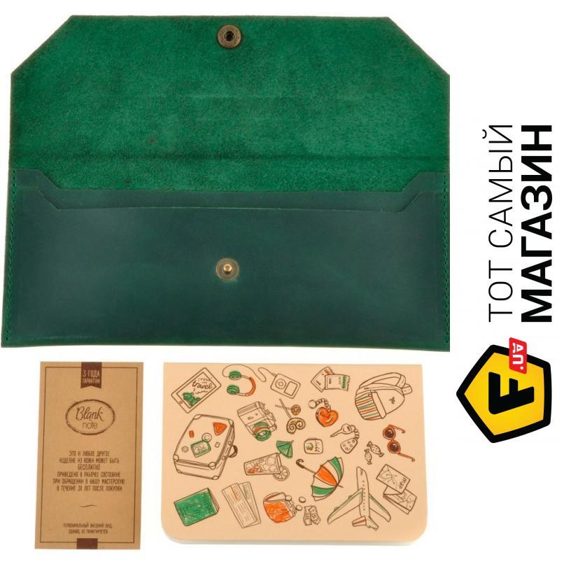 """757d31e64447 Клатч Blanknote — натуральная кожа — стиль мужской, женский повседневный  оригинал зеленый """"BN-"""