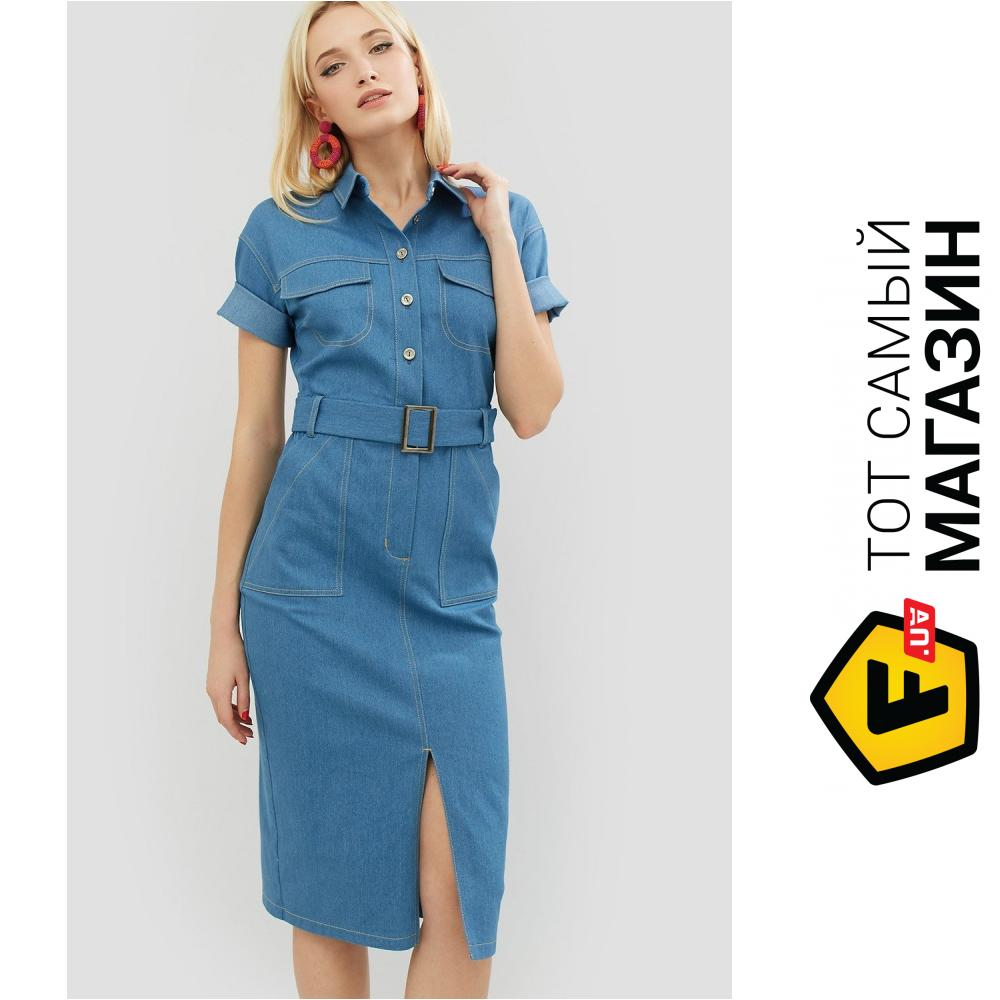 c8e325db484631e Cardo Джинсовое платье-рубашка с поясом Bongo синее, размер 46 (405495_46)