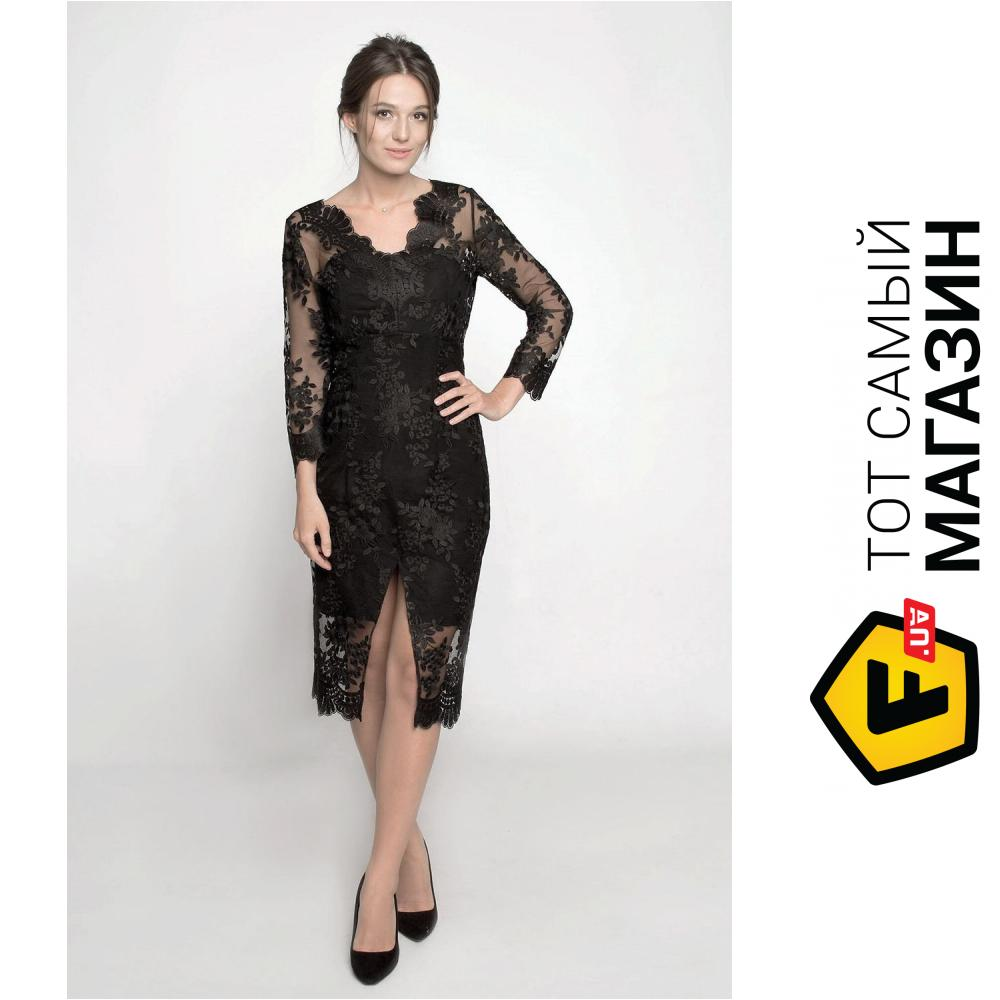 7401cc5dc1b2840 ᐈ Вечернее платье Ganveri с кружевом M Черное (3005) ~ Купить? ЦЕНА ...
