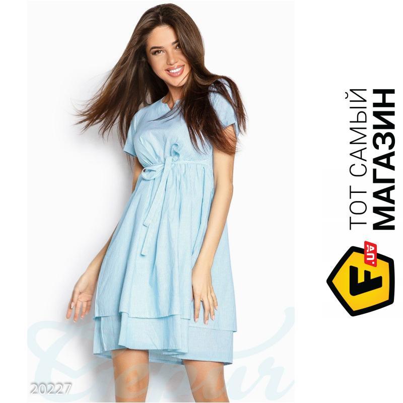 684987d7cd254fb Gepur Полосатое легкое платье Ксара , голубое, размер 42 (301152_42) ...