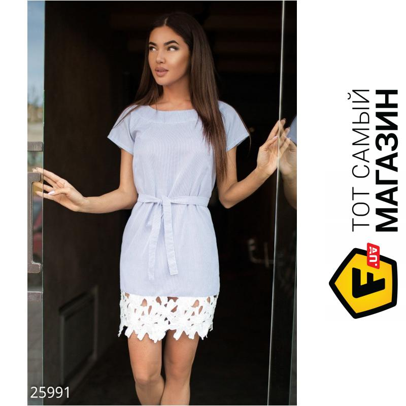 4f005ef5f31 ᐈ GEPUR Летнее платье с кружевом бело-голубой