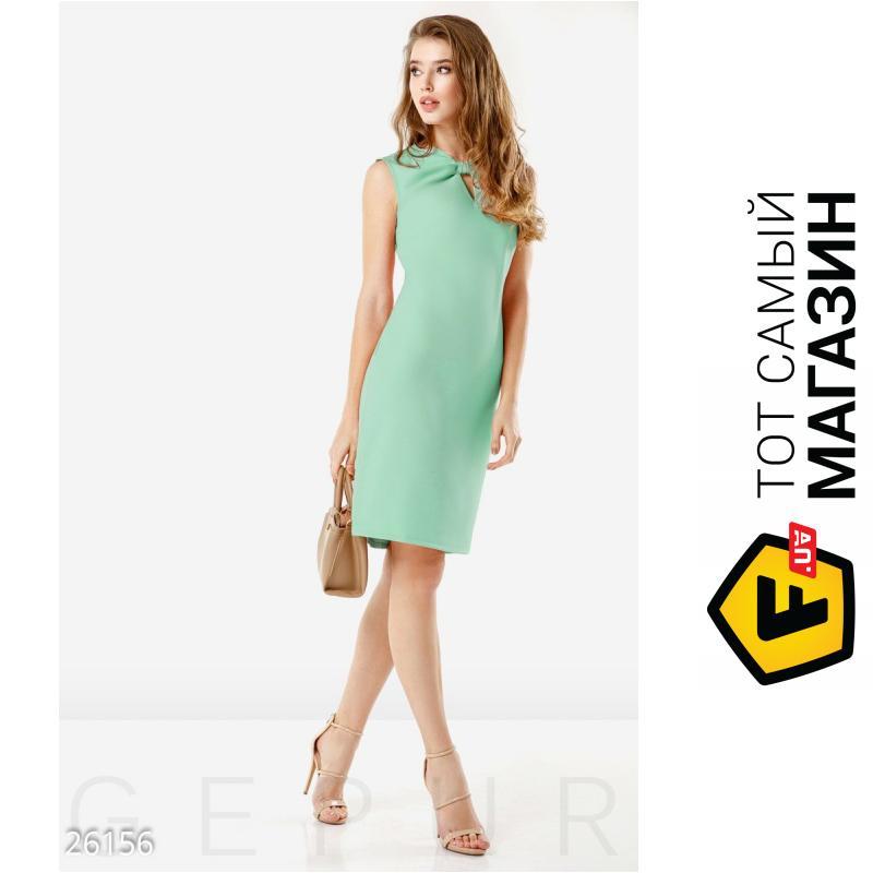 b5f0ccab0b8 ᐈ GEPUR Летнее офисное платье лаконичного кроя зеленый
