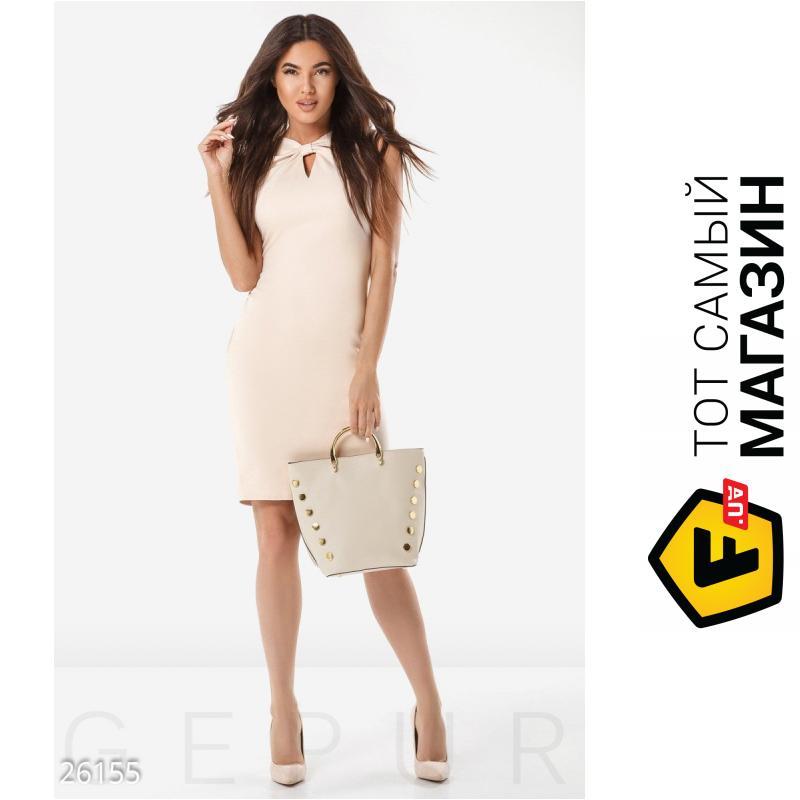 e991cab233f ᐈ GEPUR Летнее офисное платье лаконичного кроя бежевый