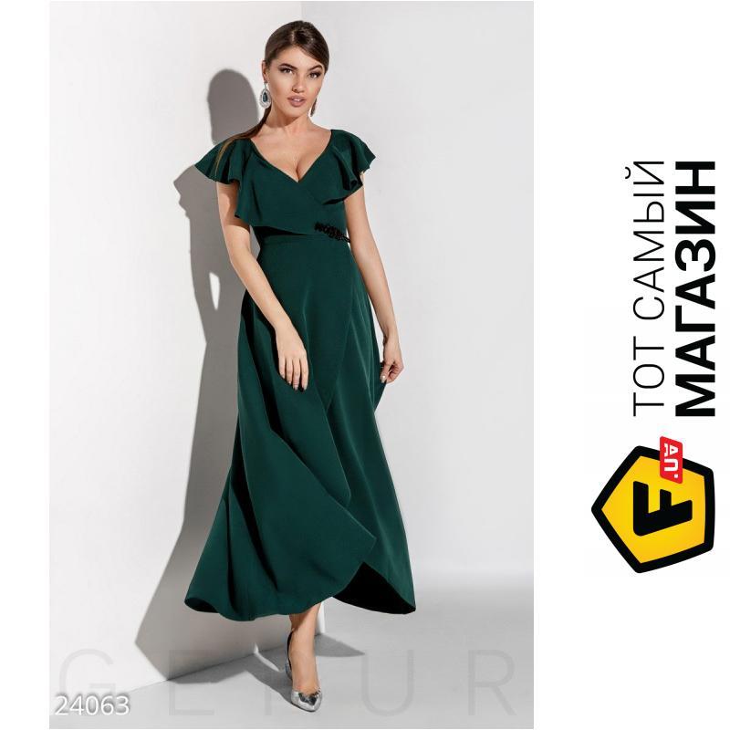 23d96d0c524 ᐈ GEPUR Зеленое длинное романтическое платье Radiance Elena