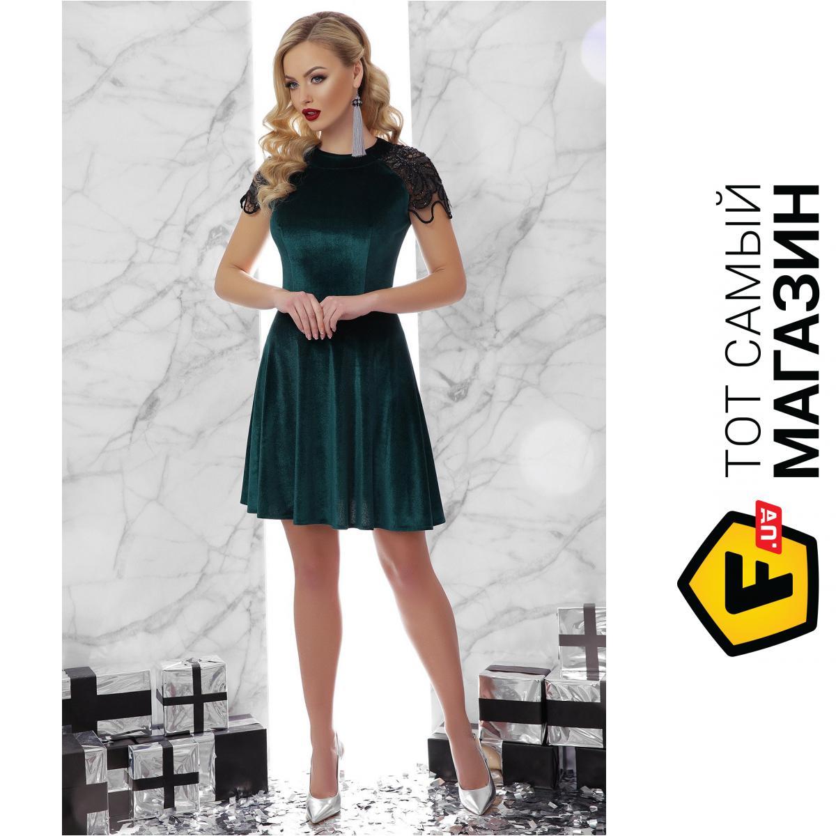 3f2149f26d31b ᐈ Платье GLEM Диана L Темно-зеленый (GLM-pl00079) ~ Купить? ЦЕНА ...