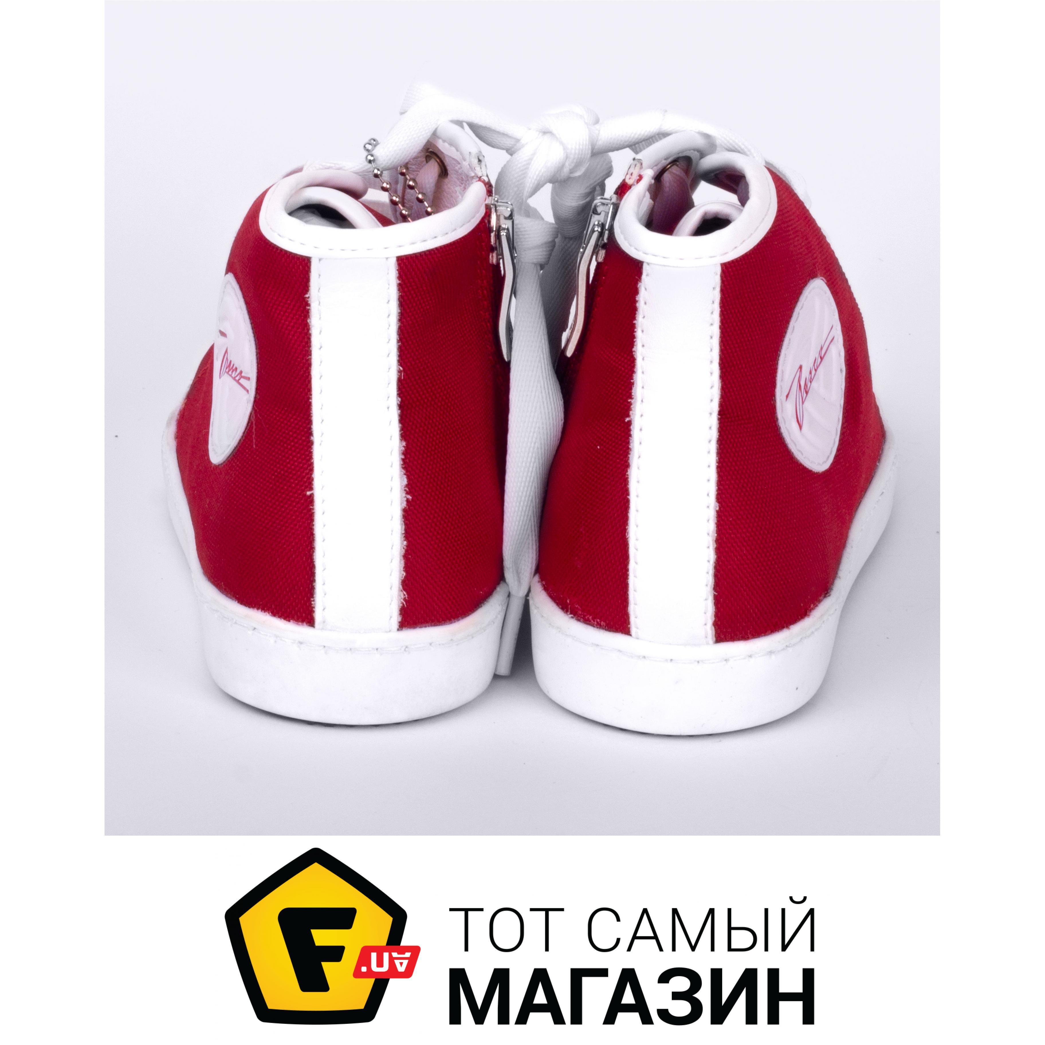 f13a137b Jog Dog Кеды высокие 32, красный/белый Материал верха: натуральная кожа,  текстиль