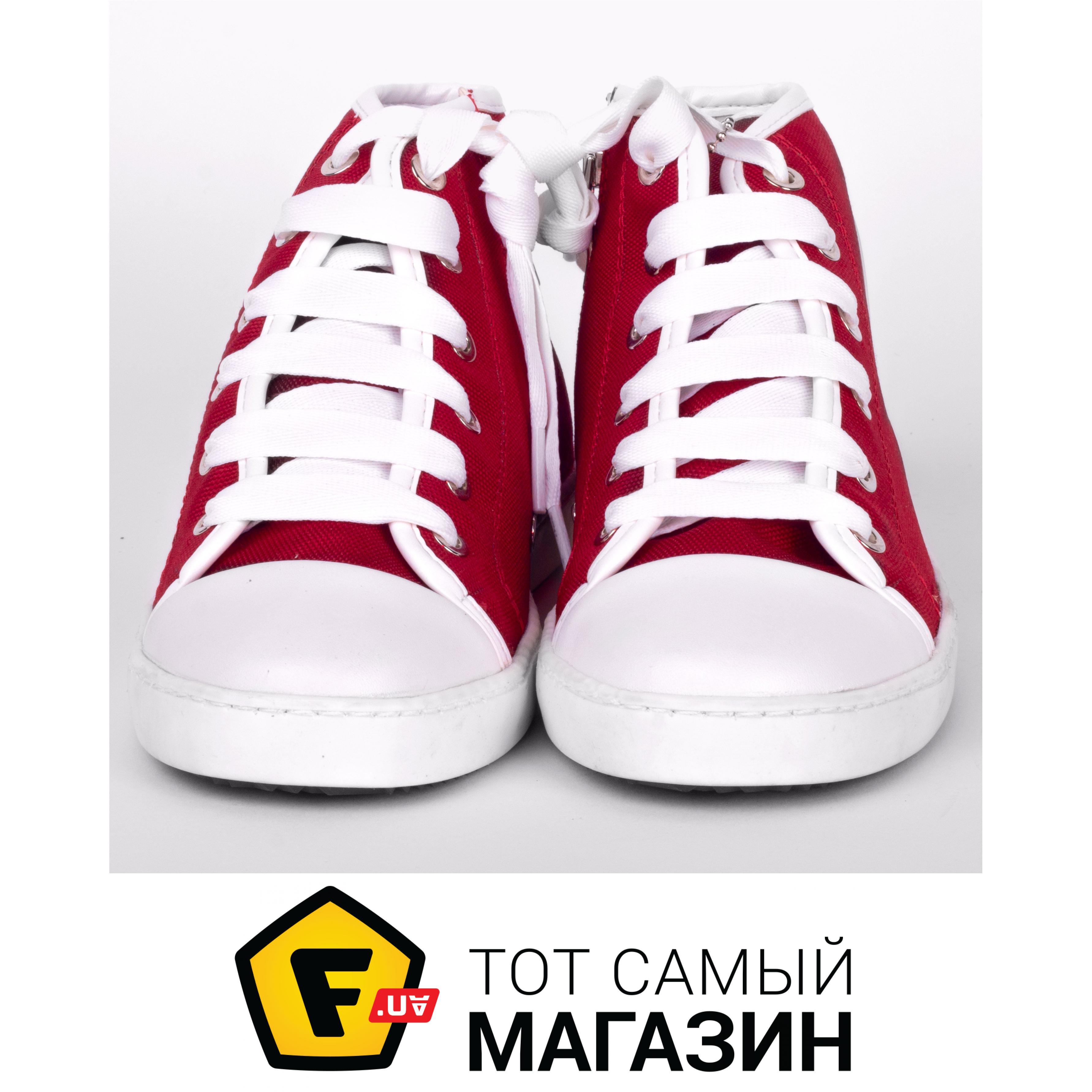 e7ca499d ᐈ JOG DOG Кеды высокие 32, красный/белый ~ Купить? ЦЕНА Снижена JOG ...