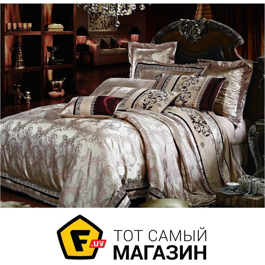 ab4d67208302 Комплект постельного белья двуспальный Евро 200x220 см хлопок,  искусственный шелк бежевый La Scala 3D-106 двуспальный евро