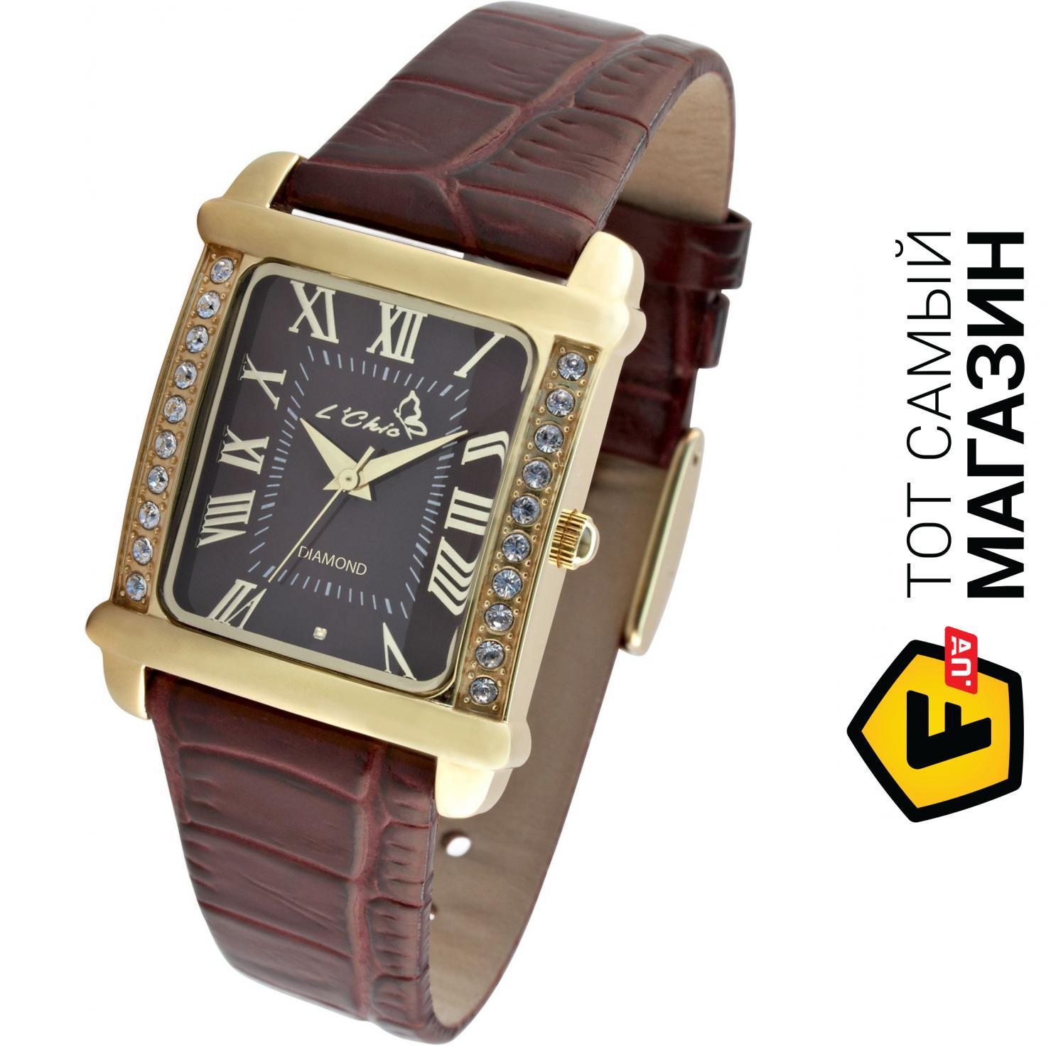 abed463f67306 ᐈ L'CHIC Женские часы Le Chic CL 7855D G Коричневый ~ Купить? ЦЕНА ...