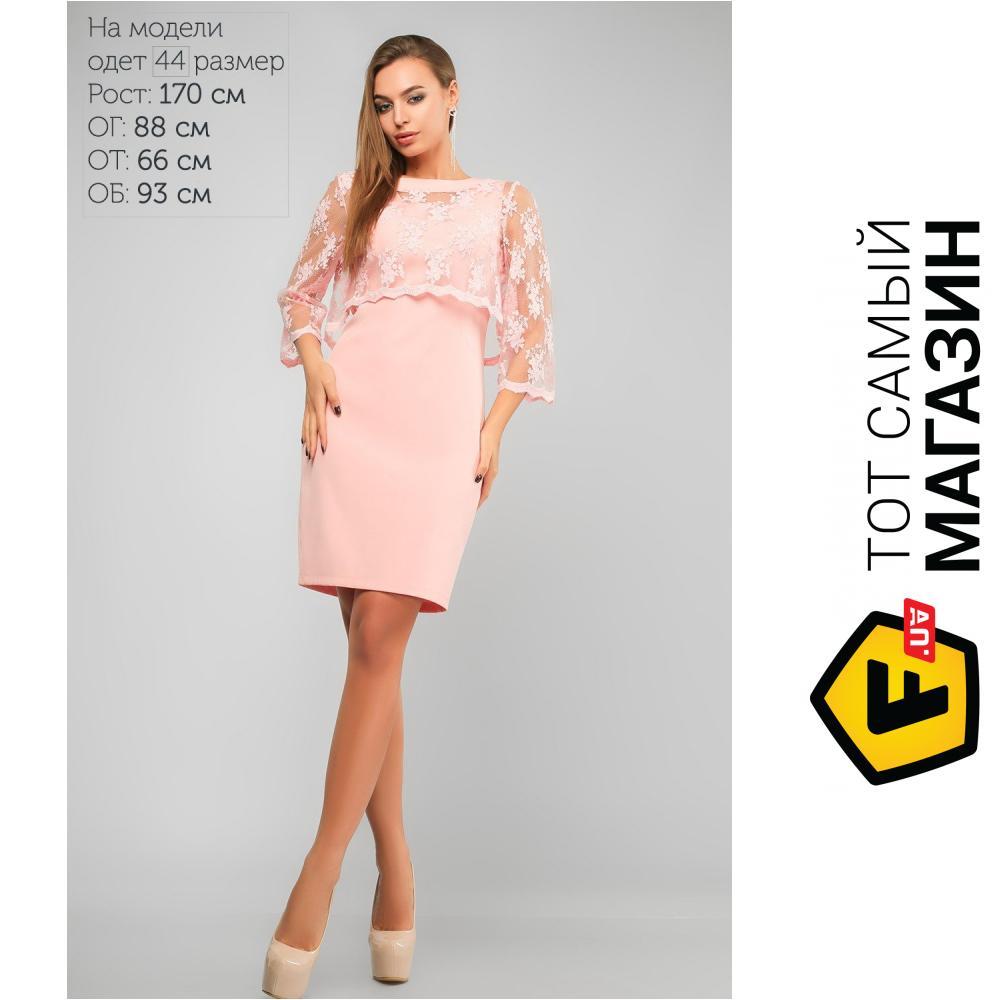 b5a4f93de2104a7 ᐈ LIPAR Розовое платье City Полина, размер 46 ~ Купить? ЦЕНА ...