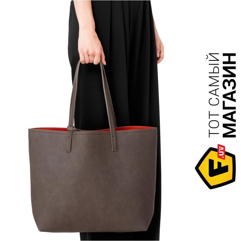 """6746a771cc96 Сумка Mango — искусственная кожа — стиль женский классический оригинал серый,  красный """"Haley,"""