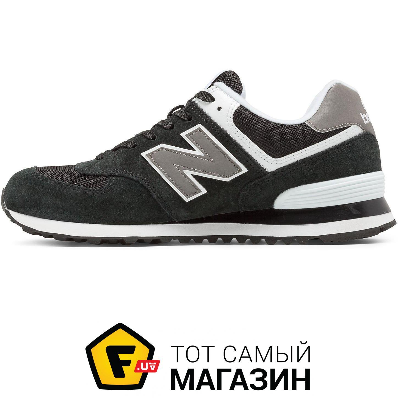 ... Кроссовки New Balance 574 Classics Black with Grey   White 212d455e7f67c