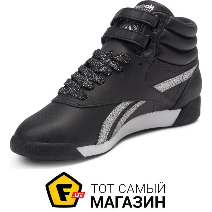 ef76d2a83d02 ᐈ REEBOK Freestyle Hi женские Black   White   Silver   Met