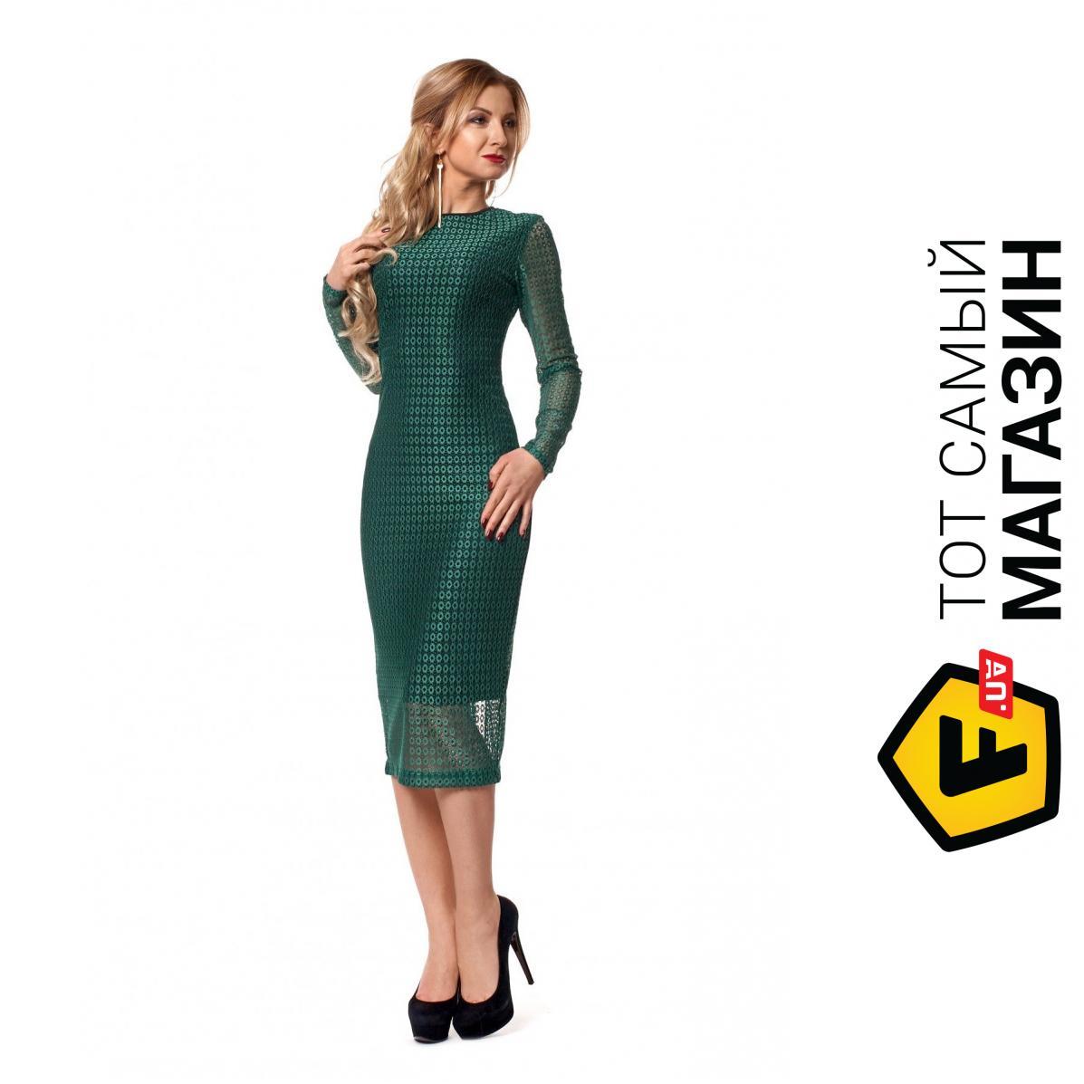 2104775b162d586 Sl Fashion Стильное вечернее платье из кружева бутылочный, размер 42-44  (384526_42-