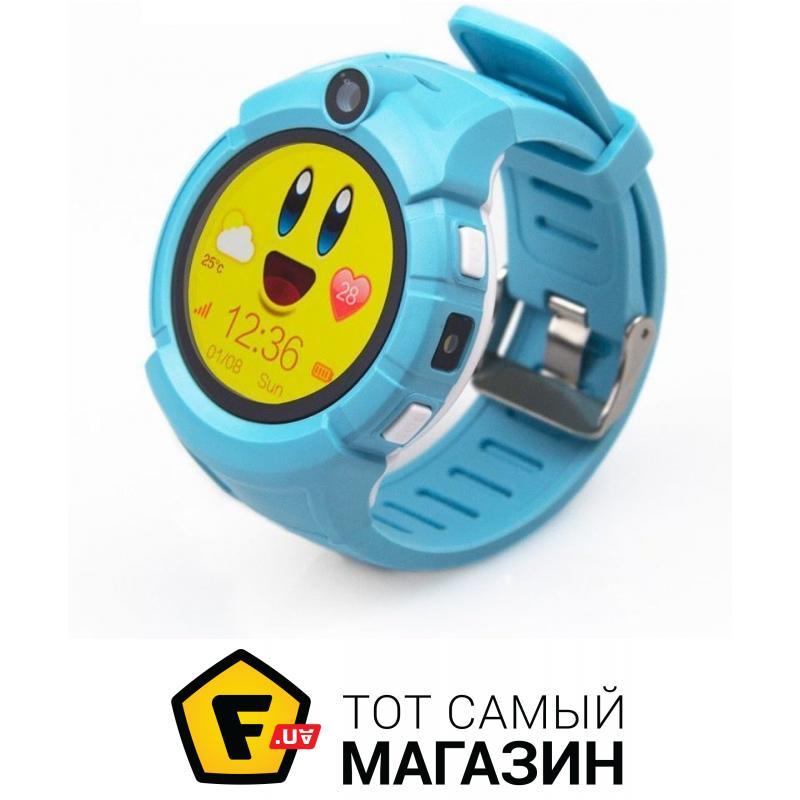 Умные часы Детские часы с GPS Smart Baby Watch Q360-PLUS Голубые (473) 0216538e5c11e