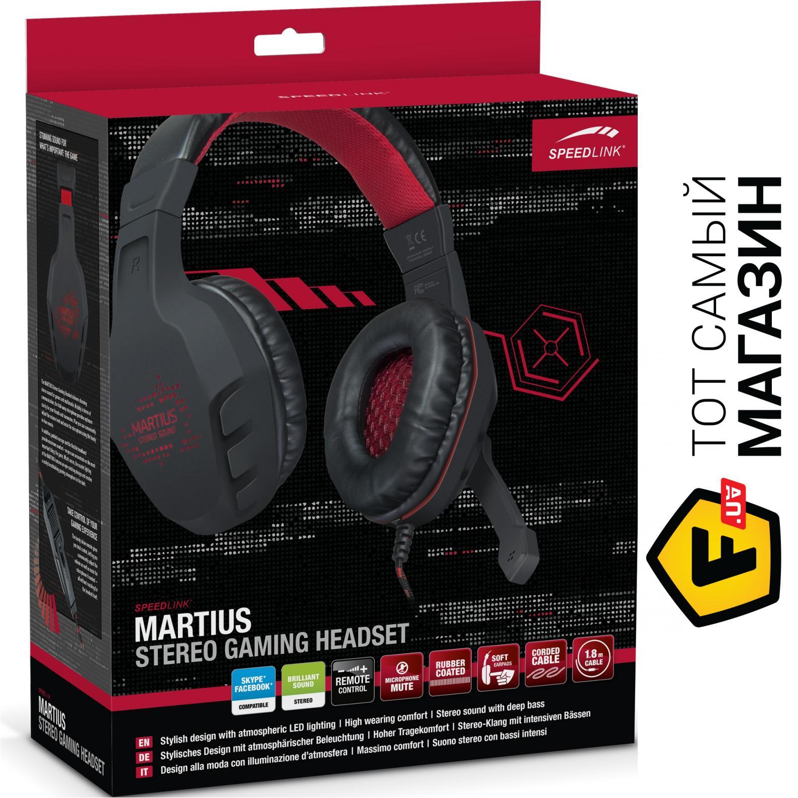 ᐈ Speedlink Martius Stereo Gaming Black Sl 860001 Bk купить