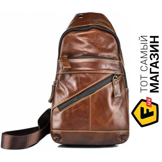 """adc41d919c9c Сумка-рюкзак Tiding Bag — натуральная кожа — стиль мужской повседневный  оригинал коричневый """"M38-3613C"""""""