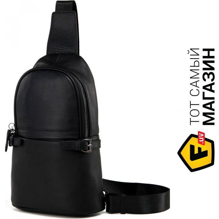 """389ec81b08e3 Сумка-рюкзак Tiding Bag — натуральная кожа — стиль мужской повседневный  оригинал черный """"M856-1A"""""""