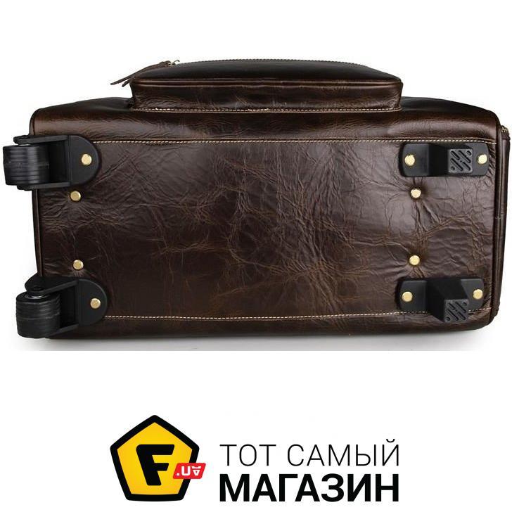 87998f6a1108 Vintage (галантерея) Сумка дорожная Vintage на колесах Коричневая (14253)