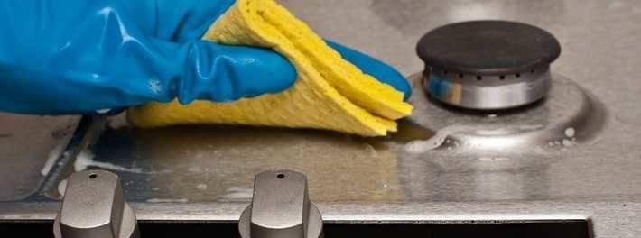 Чистка поверхности плиты у средство для чистки керамических электроплит