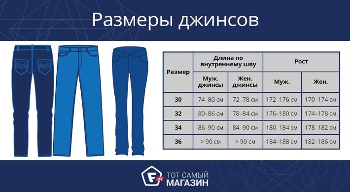 Размер джинс для девушек