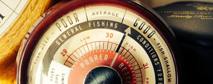 Какое атмосферное давление для ловли рыбы будет благоприятным слоях воды определённой плотности
