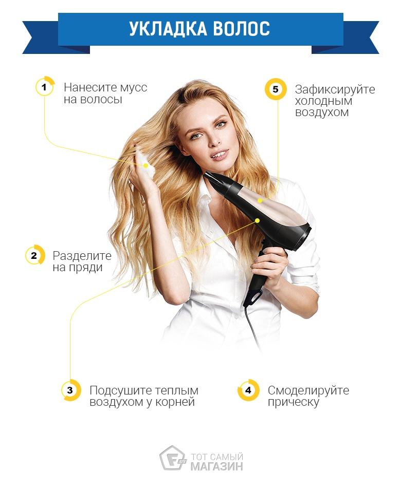 Укладка волос: средства и способы. Варианты простых
