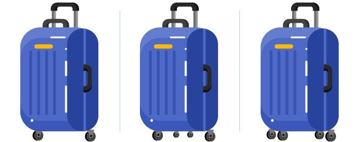 3ecb5d5e9efe КАК ВЫБРАТЬ ЧЕМОДАН — размеры дорожных чемоданов для путешествий на ...
