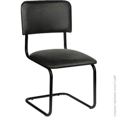 Офисный стул, Высота спинки, мм:500 mm, Черная ткань