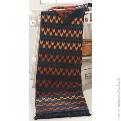 Плед двуспальное 220 x 200 см легкое черный Arya Fence Petrol ... dc26620451f83