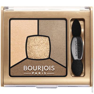 Bourjois Тени для век Smoky Stories квадро №13 бежево-коричневая+ золотой шимер 3,2 г