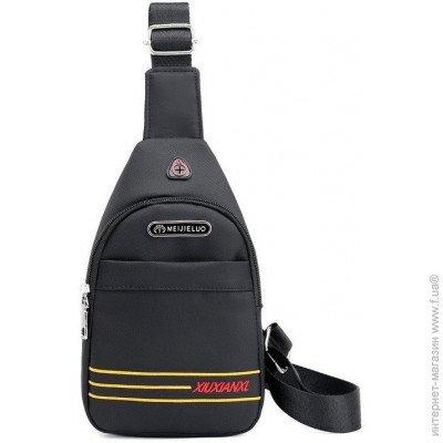7391cc5d22a6 ... Brand Style Мужская тканевая сумка слинг с отверстием для наушников  6104-1 цена