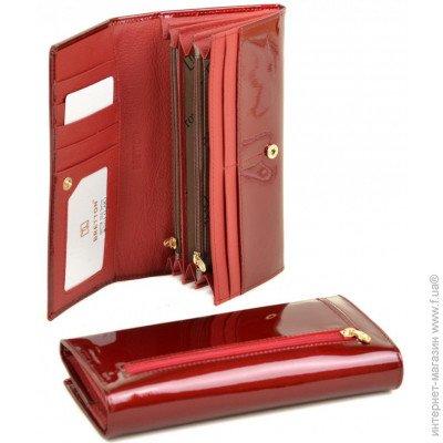 347045463a5d BRETTON Женский кожаный кошелек W501, Bretton Женский кожаный красный  кошелек Gold W501 red цена