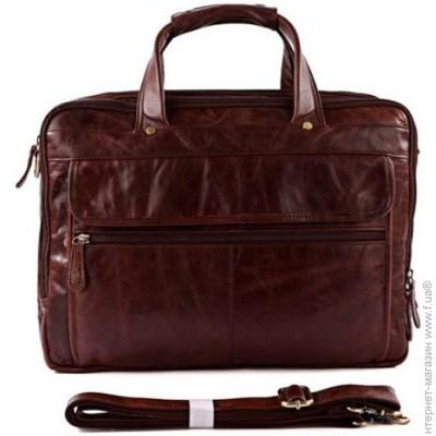 """d2f950976e1f Сумка Jasper   Maine — натуральная кожа — стиль мужской деловой оригинал  темно-коричневый """"7146C"""""""