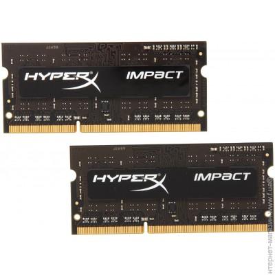 Kingston SODIMM DDR3L 8Gb (2x4Gb), 1600MHz, PC3-12800 HyperX Impact Black (HX316LS9IBK2/8)