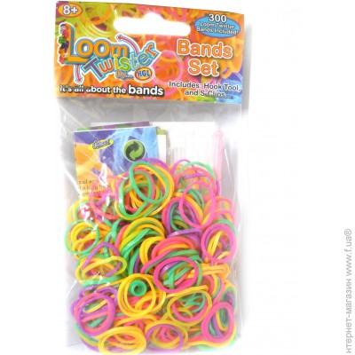 Loom 300 резинок , оранжевый/зеленый/розовый/фиолетовый (SV11675-8) Купить ЦЕНА Снижена