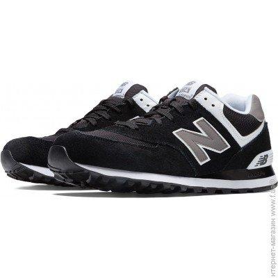 ᐈ NEW BALANCE 574 Classics Black with Grey   White 3741b074bc13a