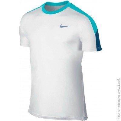 c98b9ce2 Спортивная футболка NIKE Team Court Crew, Nike Team Court Crew L,  white/blue (644784-107) цена