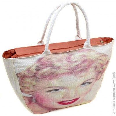 f3d05fbd6011 ... Podium Женская пляжная сумка из текстиля PC 9139-1 white цена