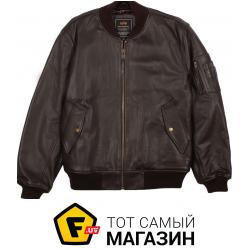 Куртка Alpha Industries MA-1 Leather Jacket Brown, XXL (MLM21110P1)